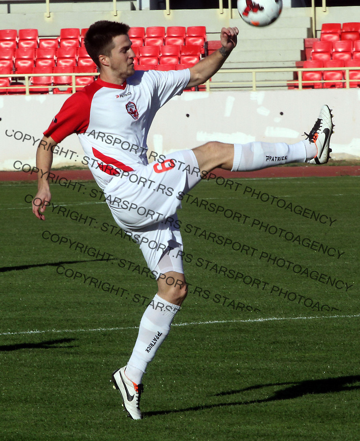 Fudbal Super liga season 2013-2014<br /> Radnicki (Nis) v Vozdovac<br /> Slobodan Lalic (Vozdovac) <br /> Nis, 09.11.2013.<br /> foto: Sasa Djordjevic/Starsportphoto &copy;