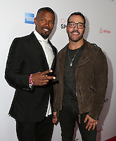 LOS ANGELES, CA - NOVEMBER 19: Jamie Foxx, Jeremy Piven attend the 3rd Annual Airbnb Open Spotlight on November 19, 2016 in Los Angeles, California.  (Credit: Parisa Afsahi/MediaPunch).