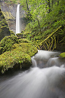 """ELOWAH FALLS"" -- Elowah Falls in spring form in the Columbia River Gorge of northern Oregon."