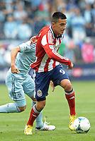 Julio Morales (9) forward Chivas USA in action..Sporting Kansas City defeated Chivas USA 4-0 at Sporting Park, Kansas City, Kansas.