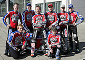 Lakeside Hammers 2007 Back Row left to right - Leigh Lanham, Henning Bager, Paul Hurry(Captain), Christian Hefenbrock, Joonas Kylmakorpi, Krzysztof Kasprzak. Front Row - Adam Shields and Chris Neath - Lakeside Hammers Press Day at The Arena Essex Raceway, Thurrock - 07/03/07 - MANDATORY CREDIT: Rob Newell/TGSPHOTO