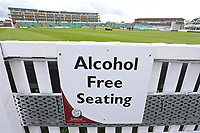 Alcohol Free Seating signage during Somerset CCC vs Essex CCC, Specsavers County Championship Division 1 Cricket at The Cooper Associates County Ground on 15th April 2017