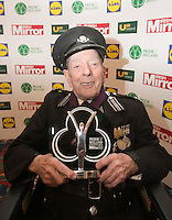 19/05/2015  <br /> Noel Brady with his award<br /> during the Irish mirror pride of Ireland awards at the mansion house, Dublin.<br /> Photo: gareth chaney Collins