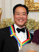 Yo-Yo Ma, one of the recipients of the 2011 Kennedy Center Honors, poses for a photo following a dinner hosted by United States Secretary of State Hillary Rodham Clinton at the U.S. Department of State in Washington, D.C. on Saturday, December 3, 2011. The 2011 honorees are actress Meryl Streep, singer Neil Diamond, actress Barbara Cook, musician Yo-Yo Ma, and musician Sonny Rollins..Credit: Ron Sachs / CNP