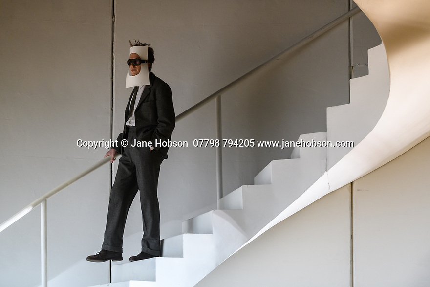 """London, UK. 13.03.2017. English National Opera preents Christopher Alden's production of """"Partenope"""", by George Frederic Handel, at the London Coliseum.  Picture shows: Rupert Charlesworth (Emilio). Photograph © Jane Hobson."""