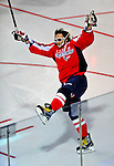24 January 2009: Washington Capitals' left wing forward Alex Ovechkin from Russia wins the Fan Fav Breakaway Challenge at the NHL SuperSkills Competition, part of the All-Star Weekend at the Bell Centre in Montreal, Quebec, Canada. ***** Editorial Sales Only ***** Mandatory Photo Credit: Ed Wolfstein Photo