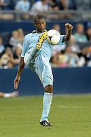 Sporting midfielder Julio Cesar (55) clears the ball..Sporting Kansas City defeated Colorado Rapids 2-0 in Open Cup play at LIVESTRONG Sporting Park, Kansas City, Kansas.