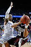 Guard Tyler UIis of the Kentucky Wildcats guards Quinndary Weatherspoon during the game against the Mississippi State Bulldogs at Rupp Arena on January 20, 2015 in Lexington, Kentucky. Photo by Taylor Pence