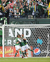 Portland Timbers vs New York Red Bulls during the MLS competition at Jeld-Wen Field, in Portland Oregon, June 19, 2011.  The Portland Timbers and New York Red Bulls tied 3-3.
