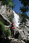 hikers at Nevada Falls