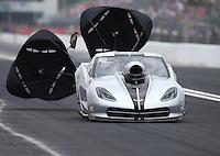 Apr 29, 2016; Baytown, TX, USA; NHRA pro mod driver Bob Rahaim during qualifying for the Spring Nationals at Royal Purple Raceway. Mandatory Credit: Mark J. Rebilas-USA TODAY Sports