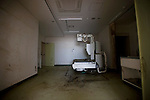 Photo shows one of the outpatient facilities damaged by the March 11 tsunamis at the Yamada  town Prefectural Hospital in Yamada town, Iwate Prefecture, Japan on  10 June 20011.  .Photographer: Robert Gilhooly