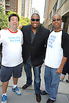 Shawn Brady and Sean Ringgold and a fan  attending The One Life to Live..43rd Anniversary Block Party outside the ABC Studio on July 15, 2011 in New York City. ..photo by Robin Platzer/ Twin Images..212-935-0770