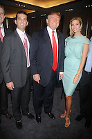 Donald Trump Jr., Donald Trump and Ivanka Trump at the ribbon cutting ceremony for Trump SoHo New York in New York City April 9, 2010.. Credit: Dennis Van Tine/MediaPunch