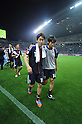 (L-R) Shinji Kagawa, Kengo Nakamura (JPN),.JUNE 3, 2012 - Football / Soccer :.Shinji Kagawa and Kengo Nakamura of Japan leave the pitch after the 2014 FIFA World Cup Asian Qualifiers Final round Group B match between Japan 3-0 Oman at Saitama Stadium 2002 in Saitama, Japan. (Photo by Takahisa Hirano/AFLO)