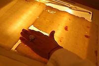 Artigiani a San Lorenzo , quartiere storico di Roma. Craftsmen in San Lorenzo, historic district of Rome. <br /> &ldquo;Photographs &amp; Memories&rdquo;. Laboratorio di conservazione e restauro di libri antichi e fotografie gestito da tre.<br /> &quot;Photographs &amp; Memories.&quot; Laboratory for conservation and restoration of old books and photographs run by three women.