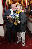"""NO REPRO FEE. 17/1/2010. The Field opening night. Senator David Norris and Brenda Fricker are pictured at the Olympia Theatre for the opening night of John B Keanes 'The Field"""" Picture James Horan/Collins"""