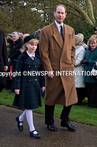 "KATE'S 1ST CHRISTMAS AT SANDRINGHAM.Catherine, Duchess of Cambridge joined members of the Royal Family for her first Christmas at Sandringham, Norfolk..She attended Christmas Day Service together with other members of the Roayal Familt a St. Mary Magdalene Church, Sandringham_25/12/2011.Picture Shows: Prince Edward and daughter Louise.Mandatory Credit Photo: ©Catherine Souto/NEWSPIX INTERNATIONAL..Please telephone : +441279324672 for usage fees..**ALL FEES PAYABLE TO: ""NEWSPIX INTERNATIONAL""**..IMMEDIATE CONFIRMATION OF USAGE REQUIRED:.Newspix International, 31 Chinnery Hill, Bishop's Stortford, ENGLAND CM23 3PS.Tel:+441279 324672  ; Fax: +441279656877.Mobile:  07775681153.e-mail: info@newspixinternational.co.uk"