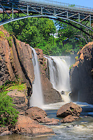 Paterson Great Falls on the Passaic River in Paterson, New Jersey.  The waterfall is in Great Falls State Park, and has also been designated a National Historic Park.
