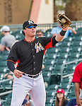 10 March 2015: Miami Marlins first baseman Justin Bour in Spring Training action against the Washington Nationals at Roger Dean Stadium in Jupiter, Florida. The Marlins edged out the Nationals 2-1 on a walk-off solo home run in the 9th inning of Grapefruit League play. Mandatory Credit: Ed Wolfstein Photo *** RAW (NEF) Image File Available ***