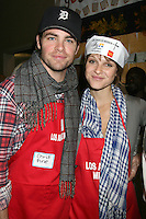Chris Pine & Beau Garrett at the LA Mission Thanksgivng Feeding of the Homeless in    Los Angeles, CA.November 26, 2008.©2008 Kathy Hutchins / Hutchins Photo....