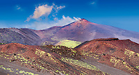 Volcanic slopes of Mount Etna Sicily
