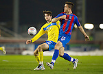 Inverness Caley Thistle v St Johnstone....28.03.12   SPL.Roman Golobart and Cillian Sheridan.Picture by Graeme Hart..Copyright Perthshire Picture Agency.Tel: 01738 623350  Mobile: 07990 594431