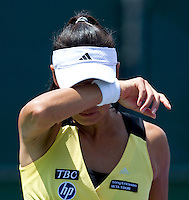 Kimiko DATE KRUMM (JPN) against Nadia PETROVA (RUS) in the second round of the women's singles. Petrova beat Date Krumm 6-3 7-6..International Tennis - 2010 ATP World Tour - Sony Ericsson Open - Crandon Park Tennis Center - Key Biscayne - Miami - Florida - USA - Thurs  25 Mar 2010..© Frey - Amn Images, Level 1, Barry House, 20-22 Worple Road, London, SW19 4DH, UK .Tel - +44 20 8947 0100.Fax -+44 20 8947 0117
