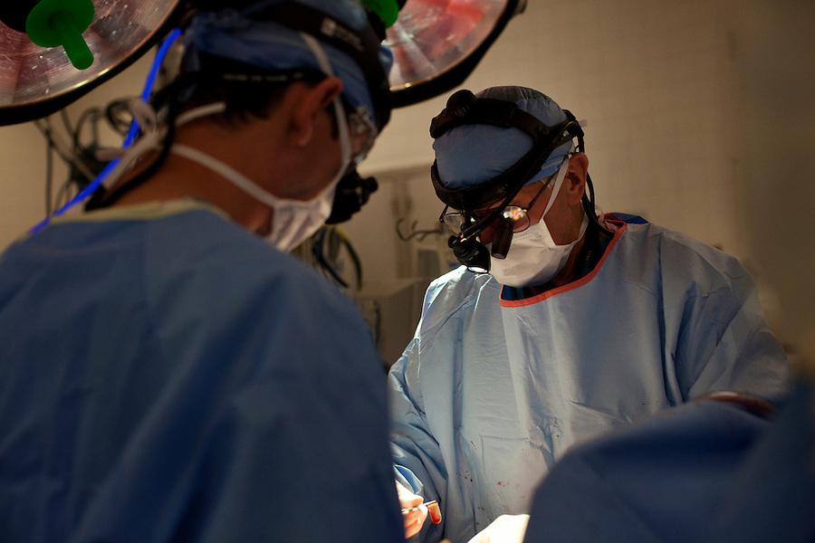 Los Angeles, California, May 16, 2012 - Patient Christine Moore undergoes a heart transplant under the direction of Alfredo Trento, MD, Director, Cardiothoracic Surgery Division at Cedar-Sinai Heart Institute..