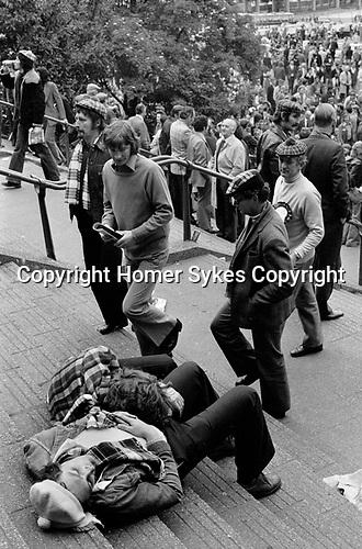Scottish fans at England Scotland Football International Wembly London May 1975