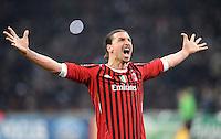 FUSSBALL   CHAMPIONS LEAGUE   SAISON 2011/2012     15.02.2012 AC Mailand - Arsenal London Zlatan Ibrahimovic (AC Mailand)
