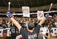 Barra Brava members during festivities surrounding the final appearance of Jaime Moreno in a D.C. United uniform, at RFK Stadium, in Washington D.C. on October 23, 2010. Toronto won 3-2.