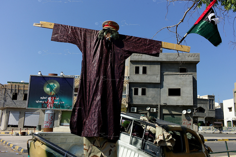 Tripoli, Libya, August 27, 2011.Khaddafi: Game Over!.