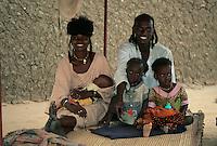 Gouré, Niger. A Fulani Family.