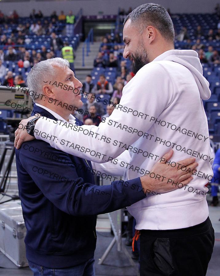 Kosarka Euroleague season 2015-2016<br /> Euroleague <br /> Crvena Zvezda v Fenebahce Istanbul<br /> Head coach Zeljko Obradovic and Milan Gurovic<br /> Beograd, 06.11.2015.<br /> foto: Srdjan Stevanovic/Starsportphoto &copy;