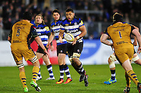 Taulupe Faletau of Bath Rugby receives the ball. Aviva Premiership match, between Bath Rugby and Bristol Rugby on November 18, 2016 at the Recreation Ground in Bath, England. Photo by: Patrick Khachfe / Onside Images