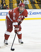Alex Fallstrom (Harvard - 16) - The Northeastern University Huskies defeated the Harvard University Crimson 4-1 (EN) on Monday, February 8, 2010, at the TD Garden in Boston, Massachusetts, in the 2010 Beanpot consolation game.