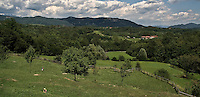 Panorama del Parco di Montevecchia e valle Curone..Landscape of Montevechia park and Curone valley