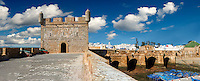 Genoese built Portuguese fortifications of Mogador or Mogadore. Essaouira, Morocco