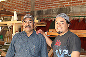 Father-son weavers Alberto Sánchez Garcia and Bëërt Sánchez Martinez of Santa Ana del Valle