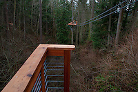 Zip Line at Canopy Tours NW, Camano Island, Washington, US