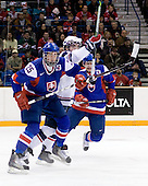 Martin Marincin (Slovakia - 25), Kyle Palmieri (USA - 23), ? - Team USA defeated Team Slovakia 7-3 on Saturday, December 26, 2009, at the Credit Union Centre in Saskatoon, Saskatchewan during the 2010 World Juniors tournament.