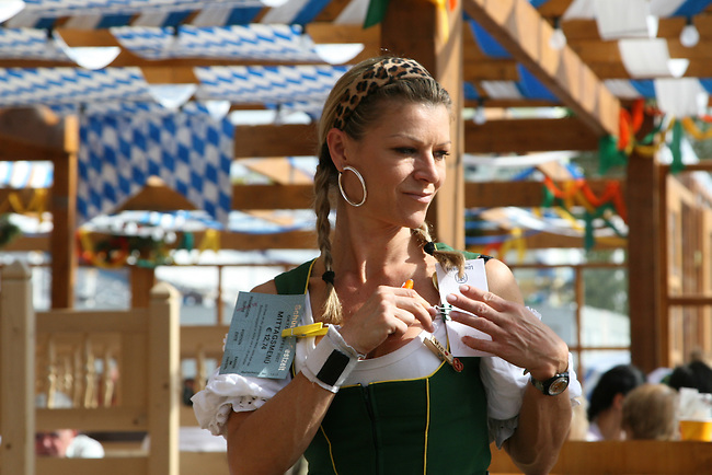 A waitress at Oktoberfest in Munch, Germany. Oct. 2, 2007.