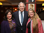 Charlotte St. Martin, Stewart F. Lane and Bonnie Comley attend the The Robert Whitehead Award presented to Mike Isaacson at Sardi's on May 10, 2017 in New York City.