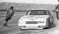 Dale Earnhardt 3 Chevrolet pit stop pits Daytona 500 at Daytona International Speedway in Daytona Beach, FL in February 1986. (Photo by Brian Cleary/www.bcpix.com) Daytona 500, Daytona International Speedway, Daytona Beach, FL, February 16, 1986.  (Photo by Brian Cleary/www.bcpix.com)