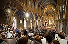 Apr. 24, 2011; Easter at The Basilica of the Sacred Heart: Steve Warner directs the Notre Dame Folk Choir..Photo by Matt Cashore/University of Notre Dame
