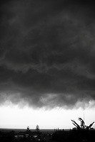 January 2010. A summer storm cell moves in over Coolangatta, Queensland, Australia.Photo: Joliphotos.com