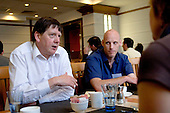 Delegates discuss things over lunch at a Teaching Expertise conference in Birmingham..