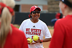 RALEIGH, NC - MARCH 29: NC State assistant coach Kirin Kumar. The North Carolina State University Wolfpack hosted the Liberty University Flames on March 29, 2017, at Dail Softball Stadium in Raleigh, NC in a Division I College Softball game. Liberty won the game 5-3.
