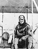 """Lieutenant Henry H. """"Hap"""" Arnold in Wright B Airplane, College Park, Maryland, 1911.  Hap Arnold was one of the truly great men in American airpower.   Born on June 25, 1886, in Gladwyne, Pennsylvania, Henry ?Hap? Arnold graduated from West Point in 1907 and was commissioned in the infantry. In April 1911 he transferred to the aeronautical division of the Signal Corps. In June of that year he received his pilot's certificate after taking instruction from Orville Wright in Dayton, Ohio. For nearly a year he was an instructor at   the Army's first aviation school at College Park, Maryland.   He rose steadily in rank and responsibility throughout the 1920s and 30s and became the commanding general of the Army Air Forces (AAF) during World War II. On December 15, 1944, Arnold was promoted to the five star supergrade """"General of the Army."""" General Arnold retired in February 1946.  General Arnold died on January 15, 1950..Credit: U.S. Air Force via CNP"""